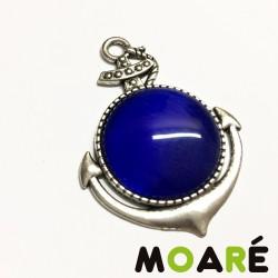 Colgante OLIVIA ancla Camafeo Plata ojo azul Marino