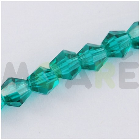 Cristal Facetado 4mm Agua Marina 150 unidades