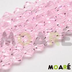 Cristal Facetado 6mm Rosa Bebé 50 unidades