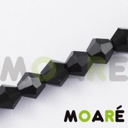 Cristal tallado negro 4mm 100 unidades