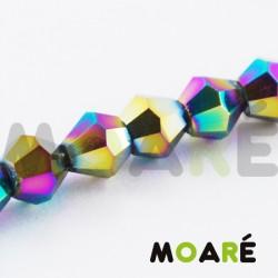 Cristal tallado Metálico Multicolor 4mm 100uds