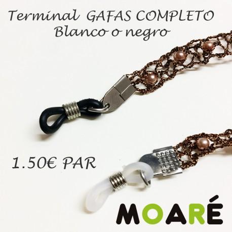 Terminal  COMPLETO cordón de gafas  Silicona