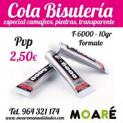 Cola Bisuteria Pegamento Camafeos F-6000 10g