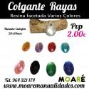 Colgante RAYAS Resina Varios colores