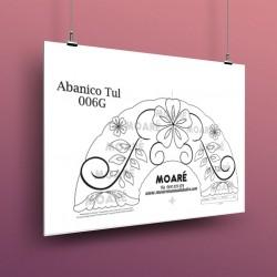 Diseño Abanico 006G + tul
