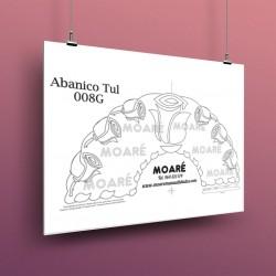 Diseño Abanico008G + tul