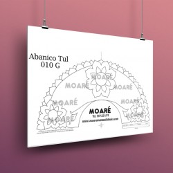 Diseño Abanico010G + tul