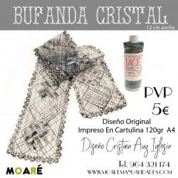 PATRON BUFANDA CRISTAL