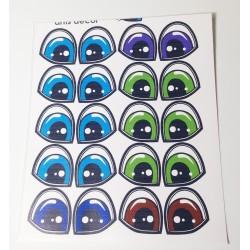 Ojos Adhesivos Cartoons Grandes