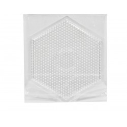 PLACA TABLA HEXAGONAL PIXEL ART MIDI 15,5CM