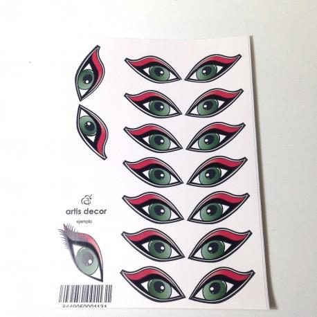 Ojos Adhesivos Miss Medianos