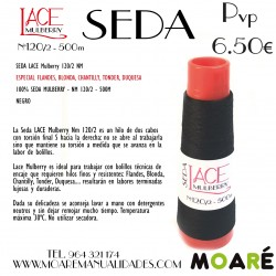 Seda LACE Mulberry NEGRO 120/2