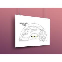 Diseño Abanico012G + tul