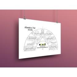 Diseño Abanico014G + tul
