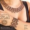 Conjunto STEL Collar y pulsera  encaje de bolillos