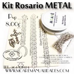 el kit Rosario bolillos plata