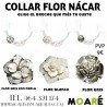 KIT COLLAR FLOR NÁCAR + PICADO