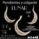 Kit LUNAR Colgante y pendientes + patrón