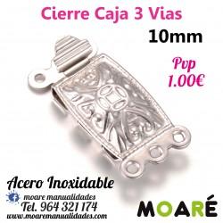 Cierre Caja 3 vias ACERO 10 mm LARGO