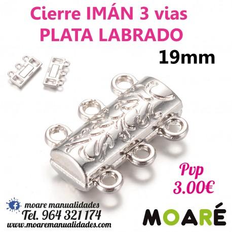 Cierre IMAN 3 vias 19mm plata LABRADO