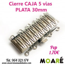 Cierre Caja 5 vias 30mm plata