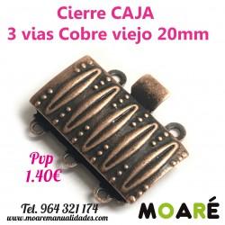 Cierre Caja 3 vias 20mm cobre viejo