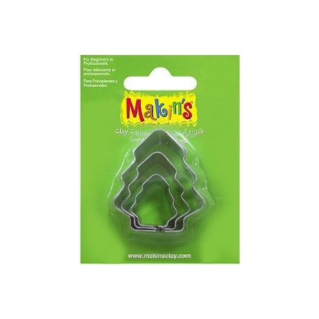 Set 3 Cortadores Arbol MAKIN'S CLAY