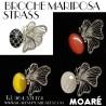 Broche MARIPOSA STRASS + picado bolillos