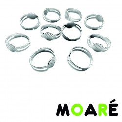 Base Anillo 8mm PLATEADO