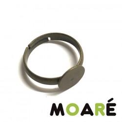 Base anillo 8mm NIÑA oro viejo