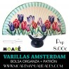 Varillas abanico AMSTERDAM + patrón