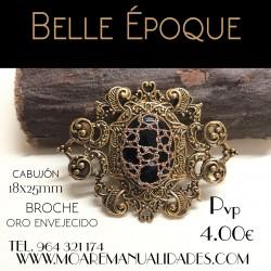 Broche BELLE EPOQUE DORADO+ picado bolillos