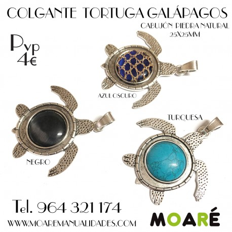 COLGANTE TORTUGA GALÁPAGOS + picado