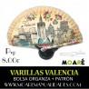 Varillas abanico VALENCIA + patrón