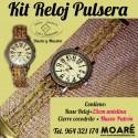 Kit Reloj Pulsera Bolillos + 3 picados