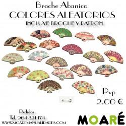 Broche Abanico COLORES ALEATORIOS + patrón bolillos
