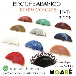 Broche Abanico RESINA + patrón bolillos