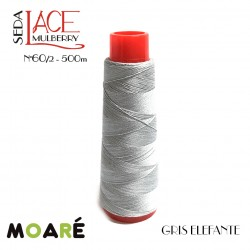 Seda LACE Mulberry Nm 60/2 GRIS ELEFANTE