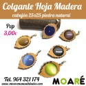 Colgante HOJA MADERA + picado
