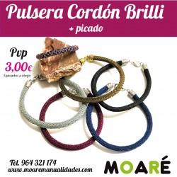 Pulsera CORDÓN BRILLI + PICADO