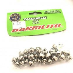 CASCABELES varios tamaños plata