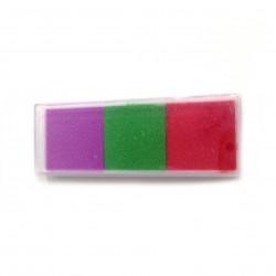 set 3 tintas Violeta, Verde Oscuro  y Rojo
