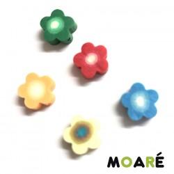 5 flores colores a arcilla polimerica