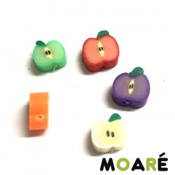 Manzanas arcilla polimerica