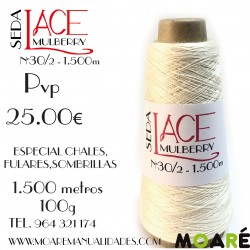 Seda LACE Mulberry CRUDO NM 30/2