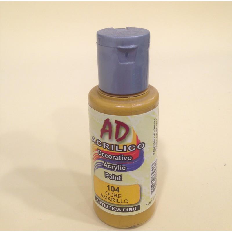 104 ocre amarillo pintura acr lica ad moar manualidades - Pintura acrilica manualidades ...