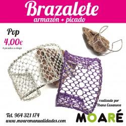 kit Brazalete armazón Plata+ picado