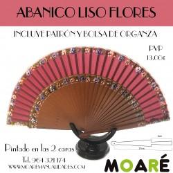 Varillas abanico ABANICO LISO FLORES + patrón