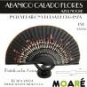 Varillas abanico ABANICO CALADO FLORES AZUL NOCHE + patrón