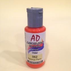 062 Naranja Permanente Pintura acrilica AD